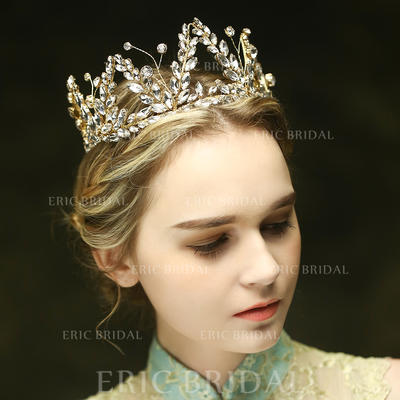 """Tiaras Wedding/Special Occasion/Party/Art photography Crystal/Rhinestone 13.39""""(Approx.34cm) 2.76""""(Approx.7cm) Headpieces (042156654)"""