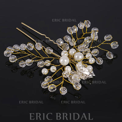 "Hairpins Wedding Crystal/Imitation Pearls 4.33""(Approx.11cm) 3.94""(Approx.10cm) Headpieces (042159004)"