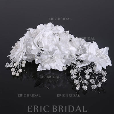 """Combs & Barrettes Wedding Crystal/Imitation Pearls/Satin 6.69""""(Approx.17cm) 4.33""""(Approx.11cm) Headpieces (042159005)"""