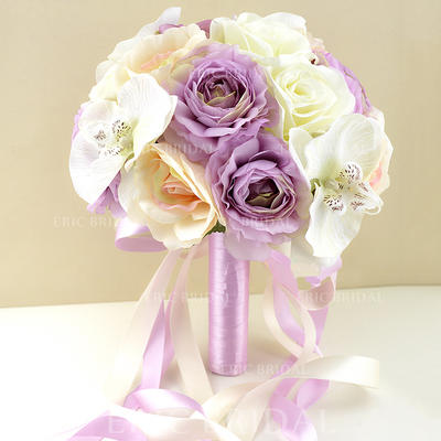 "Bridal Bouquets Wedding/Party Artificial Silk 9.49""(Approx.24cm) Romantic Wedding Flowers (123189354)"