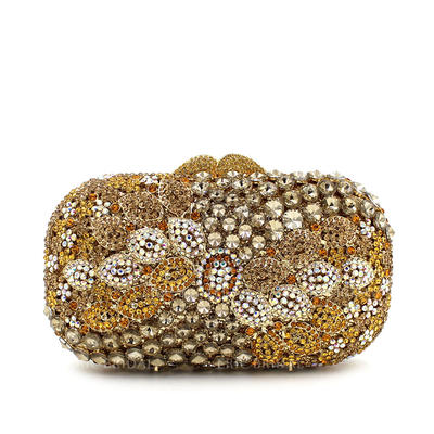 "Clutches/Luxury Clutches Wedding/Ceremony & Party Crystal/ Rhinestone Pillow bag 6.69""(Approx.17cm) Clutches & Evening Bags (012186941)"