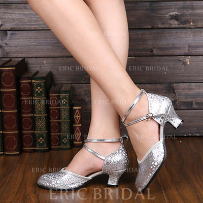 Women's Ballroom Pumps Leatherette With Ankle Strap Dance Shoes (053182285)