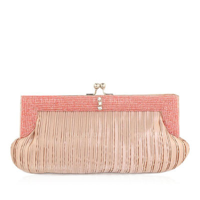 Clutches Wedding/Ceremony & Party Satin Kiss lock closure Gorgeous Clutches & Evening Bags (012184070)