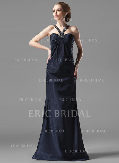 Sheath/Column Sweetheart Floor-Length Evening Dresses With Ruffle Beading (017002273)