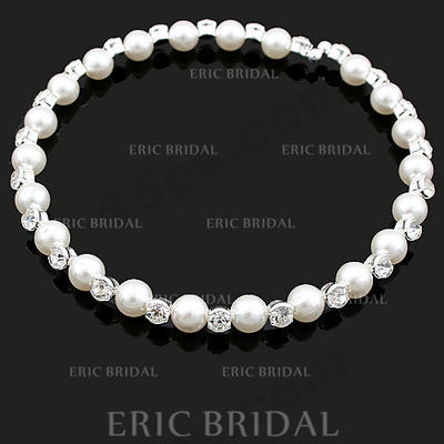 Necklaces Alloy/Pearl Rhinestone No Clasp Beautiful Wedding & Party Jewelry (011162139)