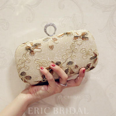 "Clutches/Satchel/Totes Wedding/Ceremony & Party PU Kiss lock closure 7.87""(Approx.20cm) Clutches & Evening Bags (012187795)"