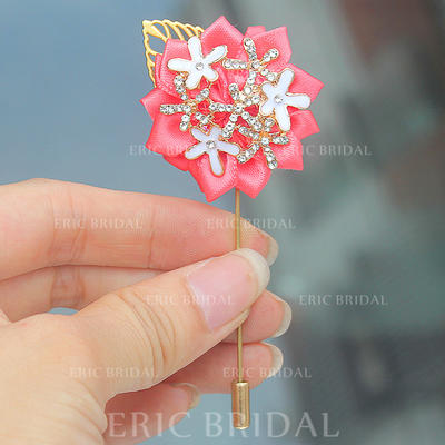 """Boutonniere Free-Form Wedding/Party Satin 1.57"""" (Approx.4cm) Wedding Flowers (123190395)"""