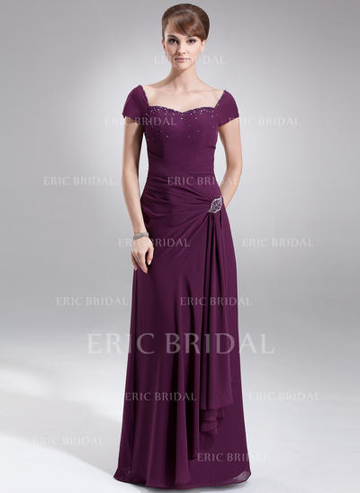 A-Line/Princess Sweetheart Floor-Length Mother of the Bride Dresses With Ruffle Beading (008211203)