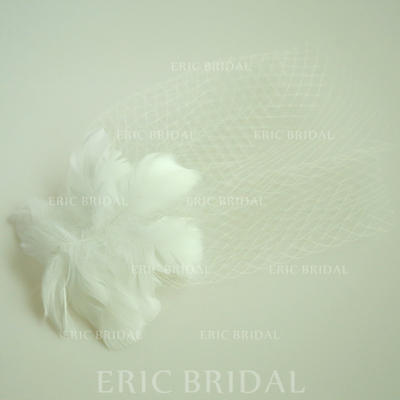 "Forehead Jewelry Wedding/Special Occasion/Party Net Yarn/Feather 9.84""(Approx.25cm) 7.87""(Approx.20cm) Headpieces (042159538)"