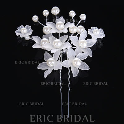 """Hairpins Wedding/Special Occasion Alloy/Imitation Pearls 3.15""""(Approx.8cm) 2.76""""(Approx.7cm) Headpieces (042158657)"""