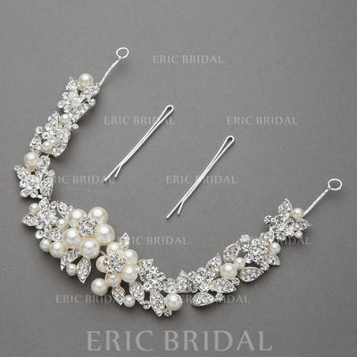 """Headbands Wedding/Special Occasion/Party Alloy/Imitation Pearls 11.02""""(Approx.28cm) 1.30 """"(Approx.3.3cm) Headpieces (042154207)"""