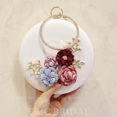 """Satchel/Totes Wedding/Ceremony & Party PU Kiss lock closure 7.09""""(Approx.18cm) Clutches & Evening Bags (012187788)"""