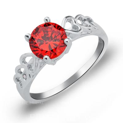 Rings Copper/Zircon/Platinum Plated Ladies' Gorgeous Wedding & Party Jewelry (011165391)
