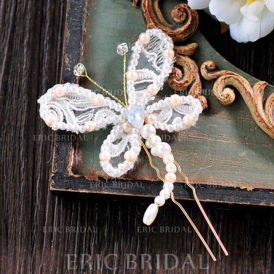 """Hairpins Wedding/Special Occasion/Casual/Outdoor/Party/Carnival/Art photography Lace 3.74""""(Approx.9.5cm) Beautiful Headpieces (042159469)"""