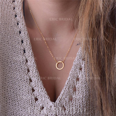 Necklaces Alloy Ladies' Charming Pendant Necklaces Wedding & Party Jewelry (011165772)