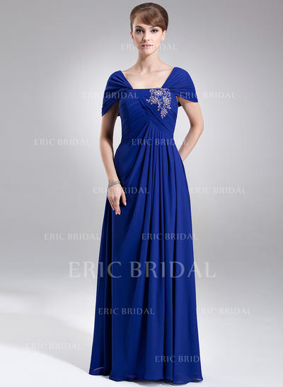A-Line/Princess Chiffon Sleeveless Off-the-Shoulder Floor-Length Zipper Up Mother of the Bride Dresses (008006008)