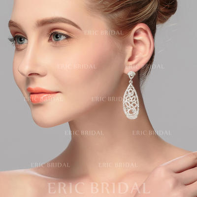 Earrings Alloy Rhinestone Ladies' Exquisite Wedding & Party Jewelry (011167143)