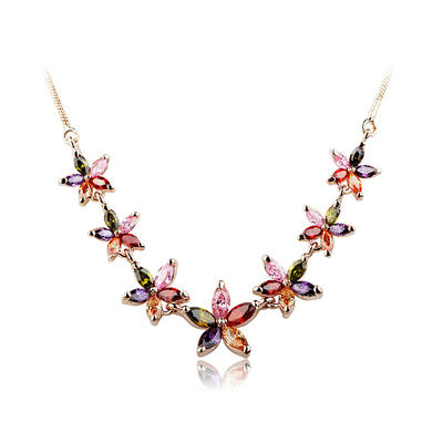 Necklaces Copper/Zircon/Rose Gold Plated Lobster Clasp Ladies' Exquisite Wedding & Party Jewelry (011164272)