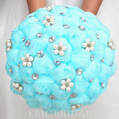 """Bridal Bouquets/Bridesmaid Bouquets Round Wedding/Party Satin 8.27""""(Approx.21cm) Wedding Flowers (123190401)"""