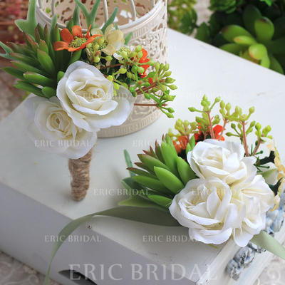 """Wrist Corsage/Boutonniere Wedding Ribbon/Artificial Silk 5.12""""(Approx.13cm) The color of embellishments are shown as picture/Color & Style representation may vary by monitor/Not responsible for typographical or pictorial errors. Wedding Flowers (123189260"""