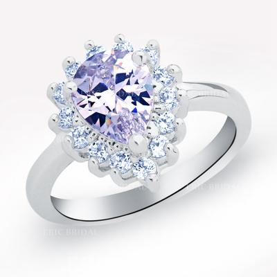 Rings Copper/Zircon/Platinum Plated Ladies' Charming Wedding & Party Jewelry (011165421)