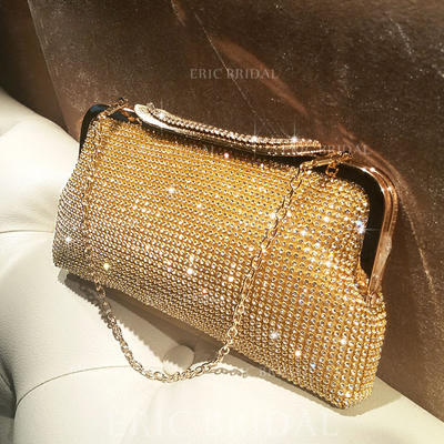 """Clutches/Satchel Ceremony & Party Crystal/ Rhinestone Shining 9.45""""(Approx.24cm) Clutches & Evening Bags (012187296)"""