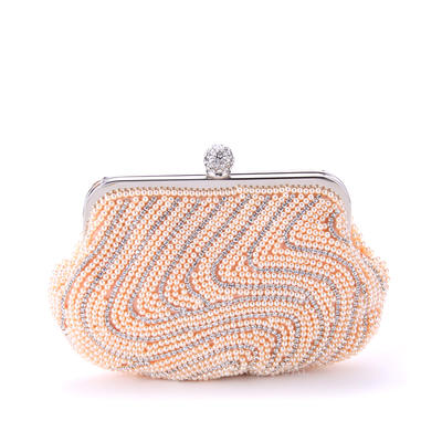 "Clutches Ceremony & Party Imitation Pearl Attractive 8.27""(Approx.21cm) Clutches & Evening Bags (012185651)"