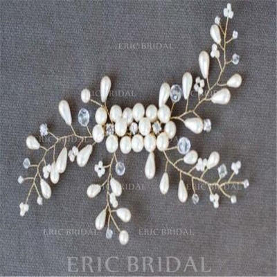 "Combs & Barrettes Wedding/Special Occasion/Casual/Outdoor/Party/Art photography Crystal/Imitation Pearls 8.66""(Approx.22cm) 3.55""(Approx.9cm) Headpieces (042159298)"