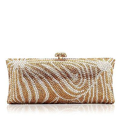 "Clutches/Luxury Clutches Wedding/Ceremony & Party/Casual & Shopping Crystal/ Rhinestone/Alloy Elegant 7.87""(Approx.20cm) Clutches & Evening Bags (012185978)"