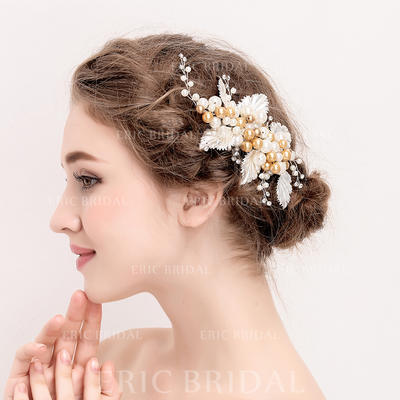 """Hairpins Wedding/Special Occasion/Party Crystal/Alloy/Imitation Pearls 6.89""""(Approx.17.5cm) 3.74""""(Approx.9.5cm) Headpieces (042157968)"""