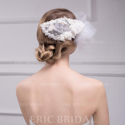 Fascinators Wedding/Special Occasion Rhinestone/Imitation Pearls/Lace Gorgeous Headpieces (042157260)