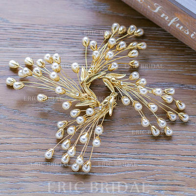 Hairpins Wedding/Party Alloy/Imitation Pearls Beautiful Ladies Headpieces (042158537)