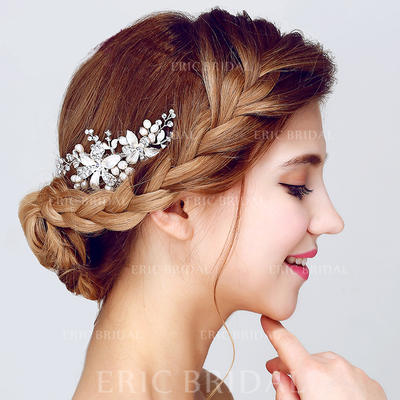 """Combs & Barrettes Wedding/Special Occasion/Party Alloy/Imitation Pearls 4.13""""(Approx.10.5cm) 2.17""""(Approx.5.5cm) Headpieces (042156239)"""
