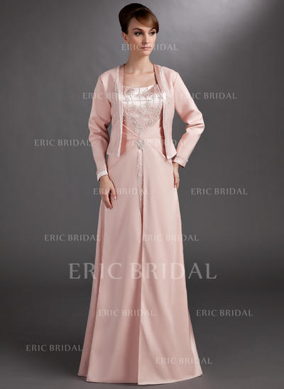 A-Line/Princess Sweetheart Floor-Length Mother of the Bride Dresses With Beading (008006265)