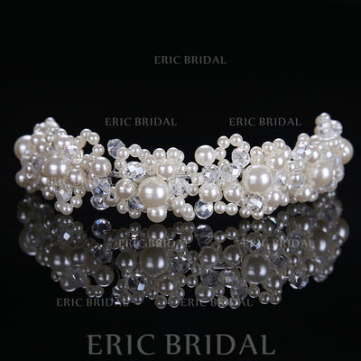 "Headbands Wedding/Special Occasion Alloy/Imitation Pearls 8.27""(Approx.21cm) 1.57""(Approx.4cm) Headpieces (042158673)"