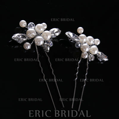 """Hairpins Wedding/Party Imitation Pearls 1.97""""(Approx.5cm) 1.18""""(Approx.3cm) Headpieces (042158155)"""