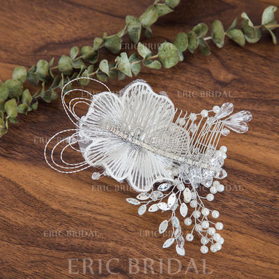 """Combs & Barrettes Wedding Crystal/Imitation Pearls 5.91""""(Approx.15cm) 3.94""""(Approx.10cm) Headpieces (042158459)"""
