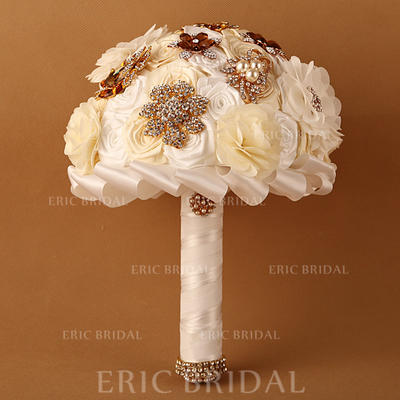"Bridal Bouquets Round Wedding Satin/Ribbon 11.42""(Approx.29cm) Wedding Flowers (123189123)"