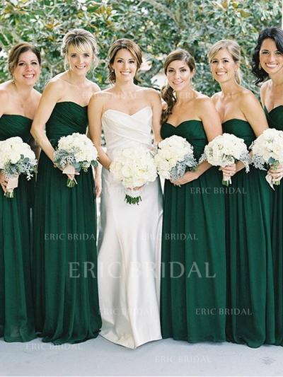 A-Line/Princess Sweetheart Floor-Length Bridesmaid Dresses With Ruffle (007144989)