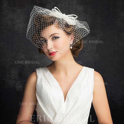 Imitation Pearls/Tulle With Imitation Pearls/Bowknot/Tulle Fascinators Charming Ladies' Hats (196194194)