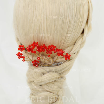 "Combs & Barrettes Wedding/Special Occasion/Party Crystal/Alloy 5.12""(Approx.13cm) 2.56""(Approx.6.5cm) Headpieces (042155293)"