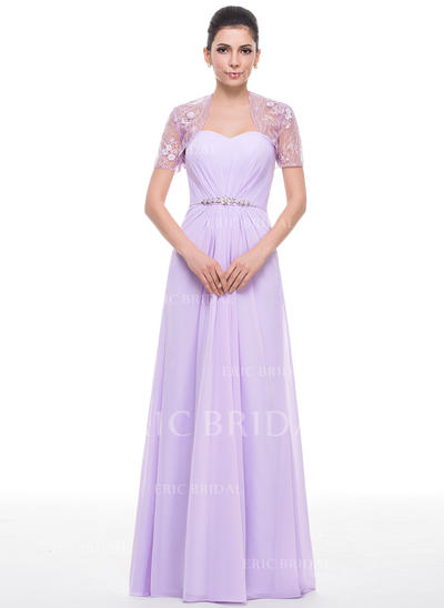 A-Line/Princess Sweetheart Floor-Length Mother of the Bride Dresses With Ruffle Beading Sequins (008210603)