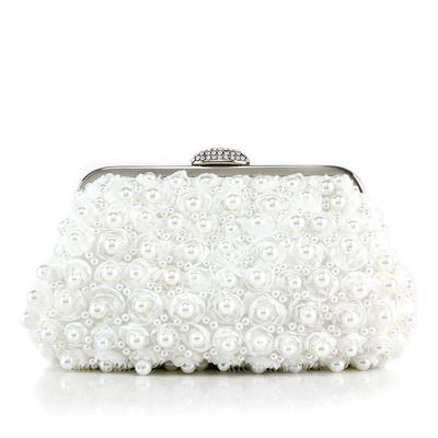 Clutches Wedding/Ceremony & Party Lace/Beading Clip Closure Shining Clutches & Evening Bags (012188165)