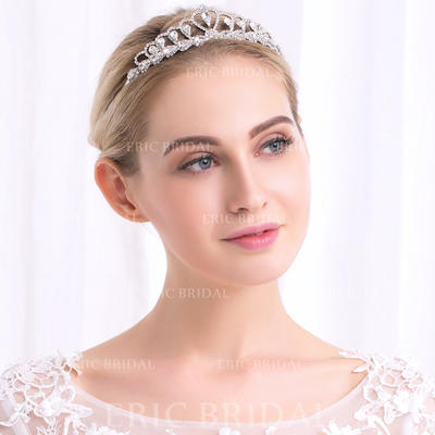 Tiaras Wedding Rhinestone/Alloy Glamourous Ladies Headpieces (042158088)