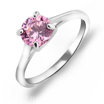 Rings Copper/Zircon/Platinum Plated Ladies' Shining Wedding & Party Jewelry (011165383)