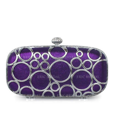 Clutches Wedding/Ceremony & Party/Office & Career Silk Clip Closure Gorgeous Clutches & Evening Bags (012184287)