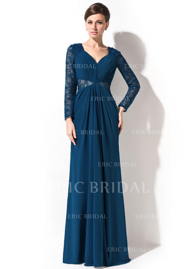 Trumpet/Mermaid Sweetheart Sweep Train Evening Dresses With Ruffle Beading Sequins (017201521)