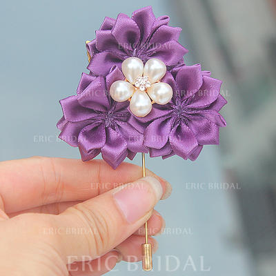 """Boutonniere Free-Form Wedding/Party Satin 2.76"""" (Approx.7cm) Wedding Flowers (123190407)"""