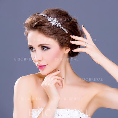 """Headbands Wedding/Special Occasion/Party Rhinestone/Alloy/Silver Plated 5.91""""(Approx.15cm) 1.18""""(Approx.3cm) Headpieces (042154647)"""