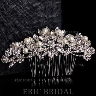 """Combs & Barrettes Wedding Alloy/Silver Plated 4.72""""(Approx.12cm) 2.17""""(Approx.5.5cm) Headpieces (042155847)"""